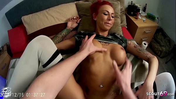Condom Off and Cum with Real German Redhead Teen Hooker Anni Angel in Brothel Thumb