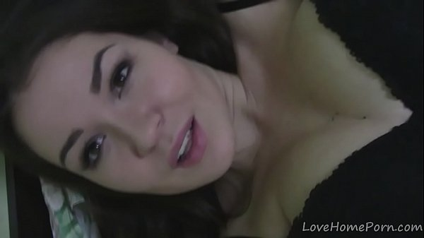 Teen in a corset spreads her pussy lips