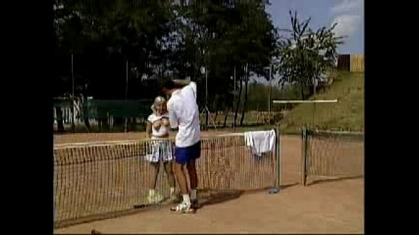 Teen Playing anal tennis