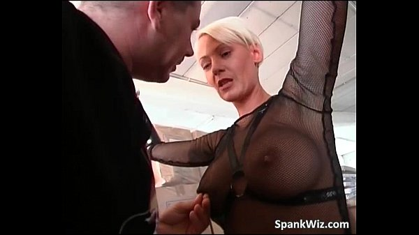 Hot blonde gets big sexy butt spanked