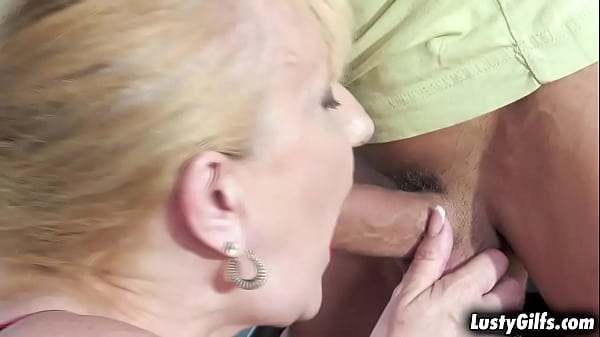 Granny Nanney gets turned on by this strong sexy man