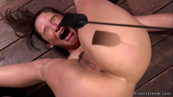 Masochist pain slut in hogtie Thumb