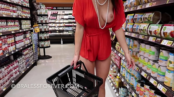 shopping with tits out