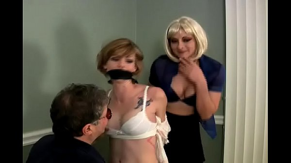 Chloe is Bound, Gagged and Groped by a Man and a Woman Thumb