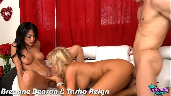 College cuties Breanne Benson and Tasha Reign fucking
