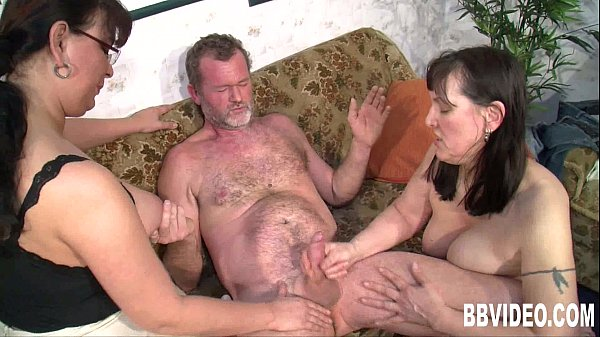 Busty fat german whores sharing cock