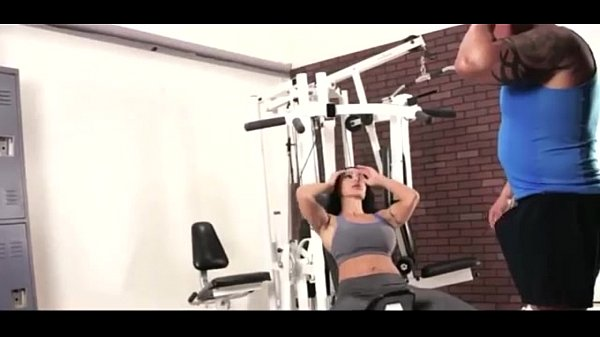 Sexy Hot Moms Workout Fitness at GYM with Handsome Guys