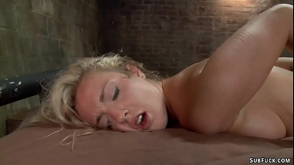 Young blonde is bound and screwed Thumb