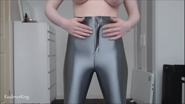 First Time In Silver Disco Pants