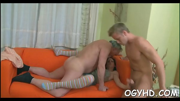 Teen playgirl experiences old cock Thumb