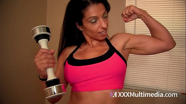 Jerk Off Instruction to Female Bodybuilder Alexis Rain