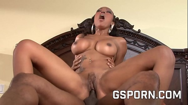 Black big boobs Lacey Duvalle fucked hard by big black cock