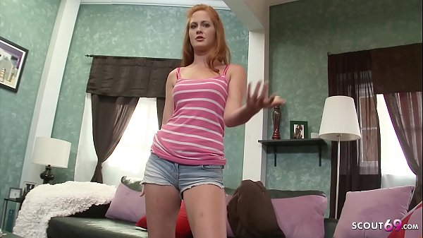 Ginger Teen Amber Swift at real First Time POV Casting for Cash
