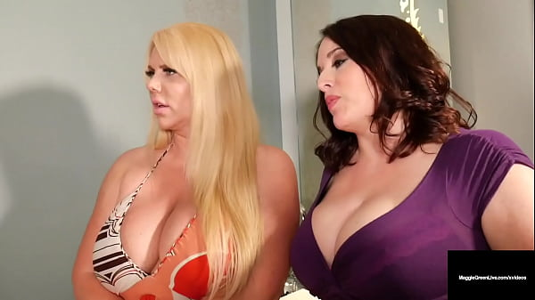 Big Busty Threesome! Maggie Green & Karen Fisher With Family Member