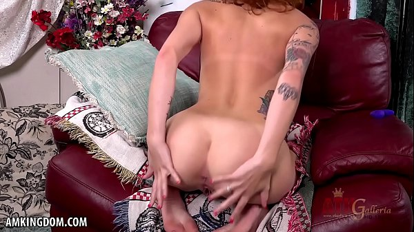 Skinny Emily Blacc rubs her wet pussy for you