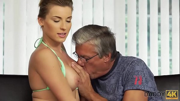 DADDY4K. Cutie looks hot in wet swimsuit so why old man wants her Thumb