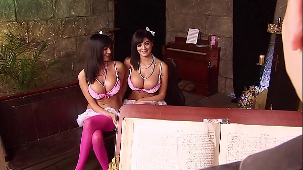 Big Titted Twin Sisters Screw Each Other AND th...