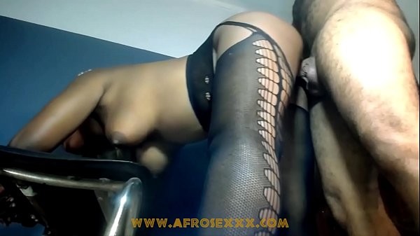 Black girl with nice tits getting fucked doggystyle