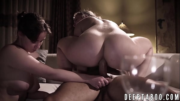 Sinful Lena Paul fucks a guy while his wife watches them Thumb