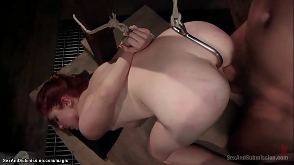 Bound adulteress ass hooked and fucked