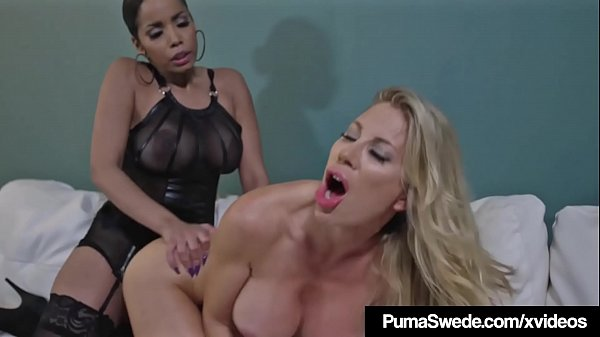 Hot Busty Blonde Puma Swede StrapOn Fucked By Havanna Ginger Thumb