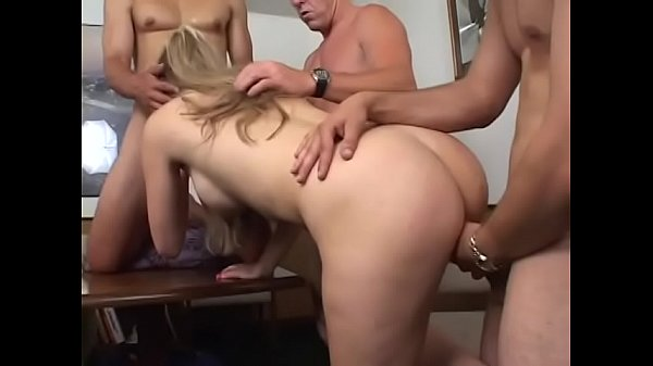 Sexy blonde whore Ciera Sage has great pleasure while takes few hard dicks in her mouth and pussy