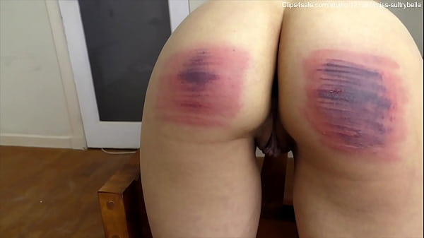 Painful caning. (Shot in 4K)