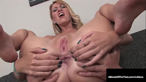 Smiley Blonde Addison O'Riley Blows A Dick And Takes It Up The Ass!