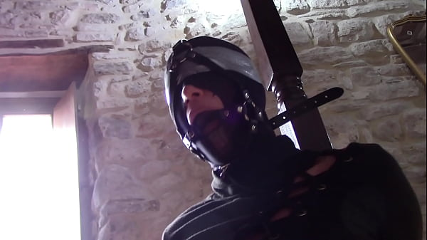 Laura XXX bound and masked deepthroating with ring gag in her mouth Thumb