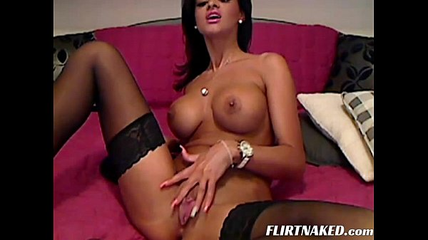 Big Tit Brunette Wife Shows Her Pussy