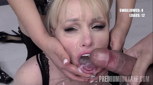 Premium Bukkake - Lola Taylor swallows 67 huge mouthful cum loads