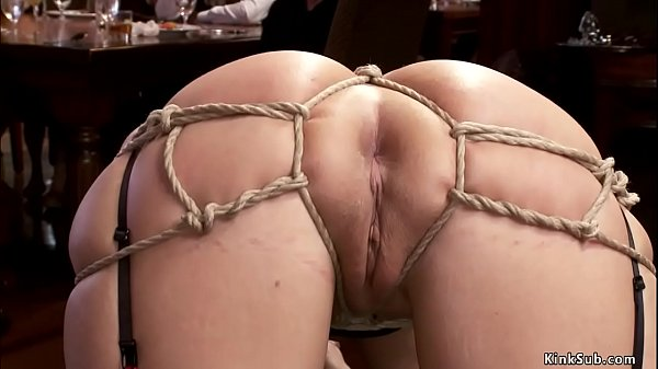Hot slaves banging in orgy party