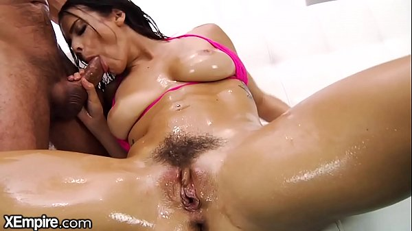 XEmpire Kiesha Grey puts Big Cock in Oiled Asshole & Toy in Puss