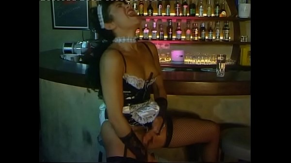 Hot maid in fishnet stockings is looking for a cock
