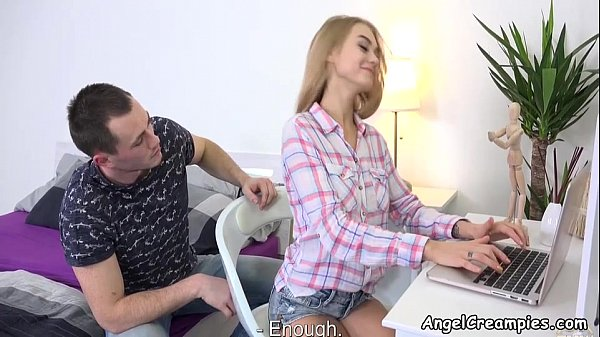Lad serves busy blondie - Nancy A