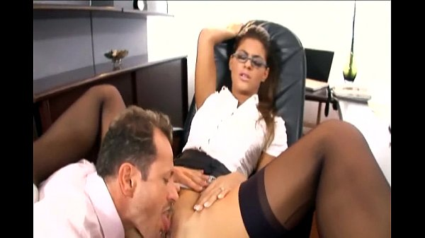 Pretty secretary fucked in stockings and a garter Thumb