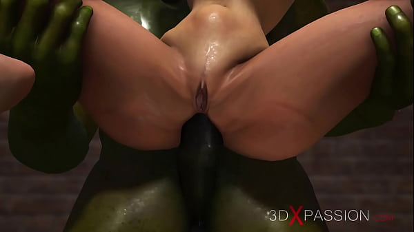 Green monster fucks hard a hot sexy girl in the sewer Thumb