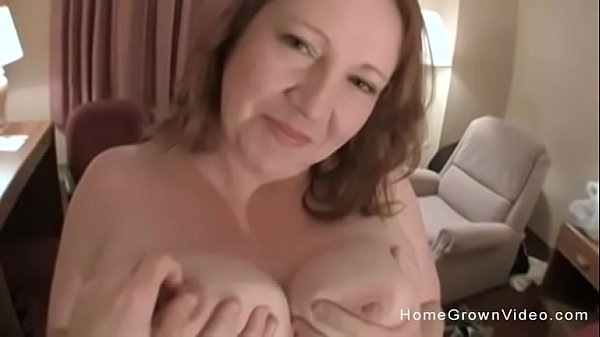 Big tit amateur BBW jerks and fucks a skinny guy