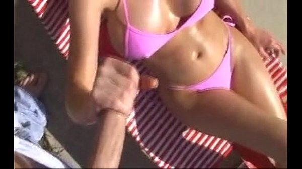 Horny Milf Under The Sun Handjob