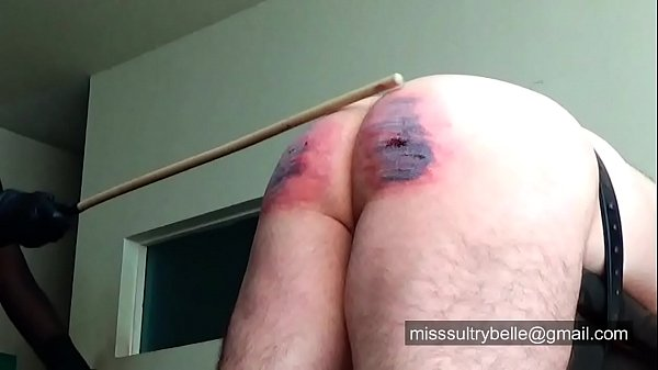 Welltawsed being caned by Miss Sultrybelle