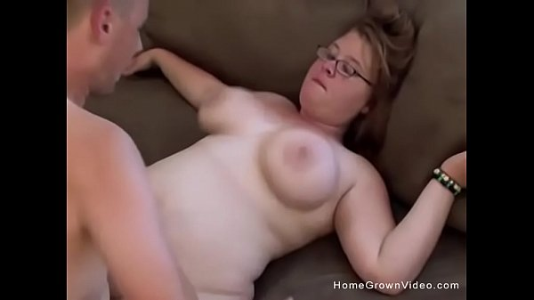 Blonde amateur fatty gets fucked by her boyfriend