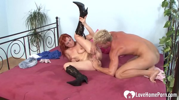 Redhead woman is very passionate about cock riding