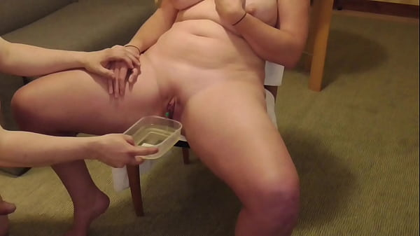 AnalSlut Piss Play - pushing my pee in to Analsluts bladder and draining her with catheter Thumb