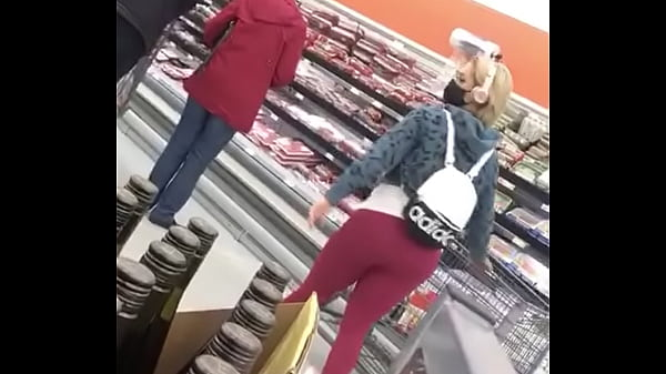 CAUGHT Candid blonde fat ass spotted the cam decides to move pointless item to SHOW OFF HER BOOTY!!!