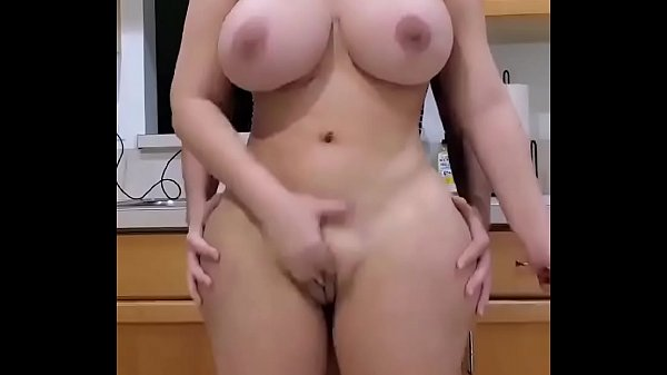 Busty girl standing ass fuck in kitchen Thumb