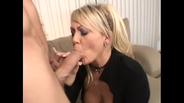 Sexy blonde MILF Chennin Blanc gets an anal pounding and a facial