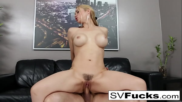 Hot Sarah gets fucked hard on the couch