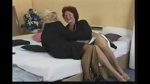 Lesbian granny old orgy too