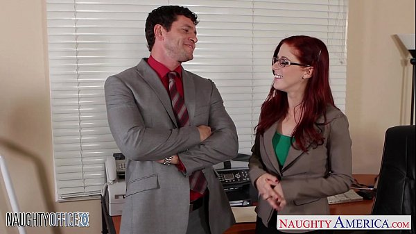 Redhead cutie in glasses Penny Pax fuck in the office  thumbnail