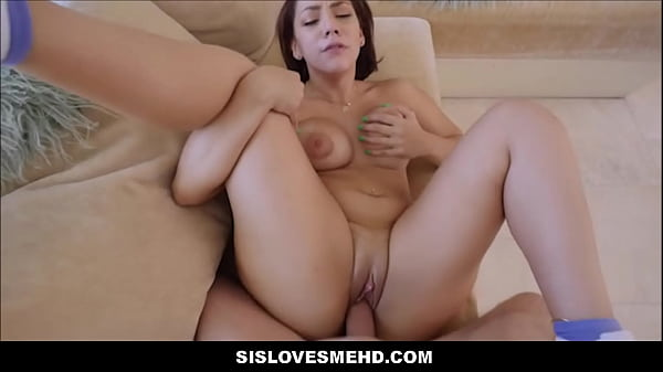 Thick Hot Latina Teen Step Sister With A Big Ass Fucked By Step Brother After Fighting Over TV POV